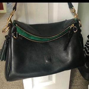 Dooney florentine crossbody black bag